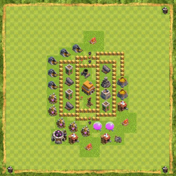 Base War Coc Th 5 20