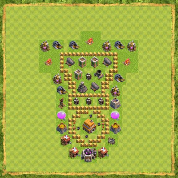 Base War Coc Th 5 24