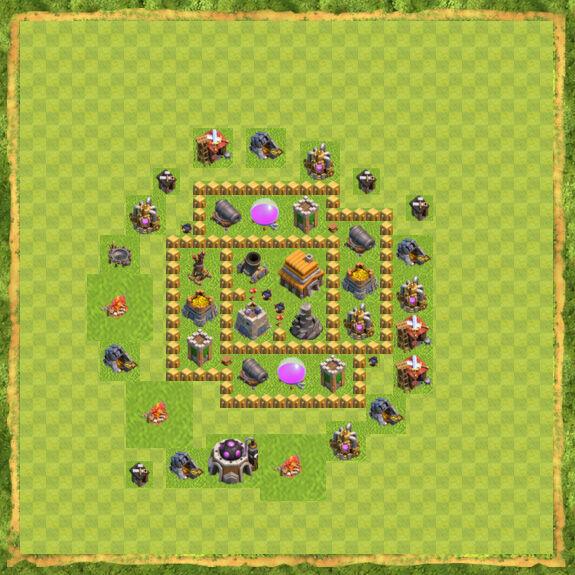 Base War Coc Th 5 32