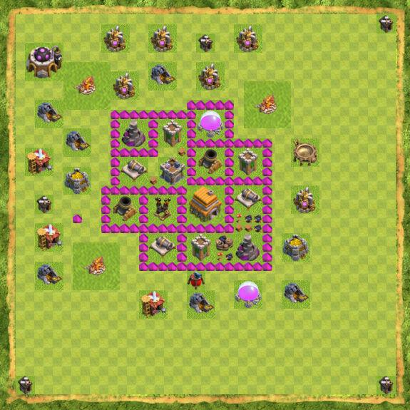 Base War Coc Th 6 10