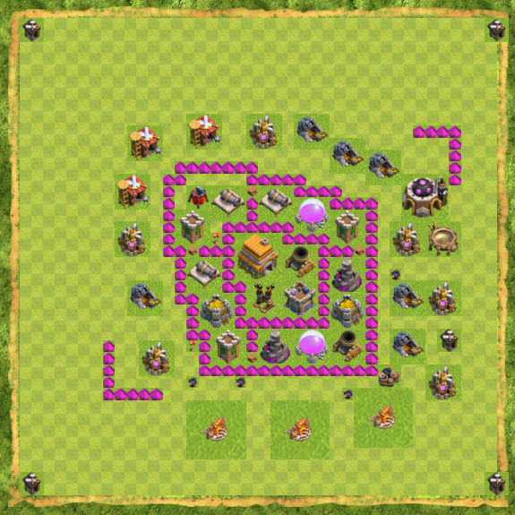 Base War Coc Th 6 11