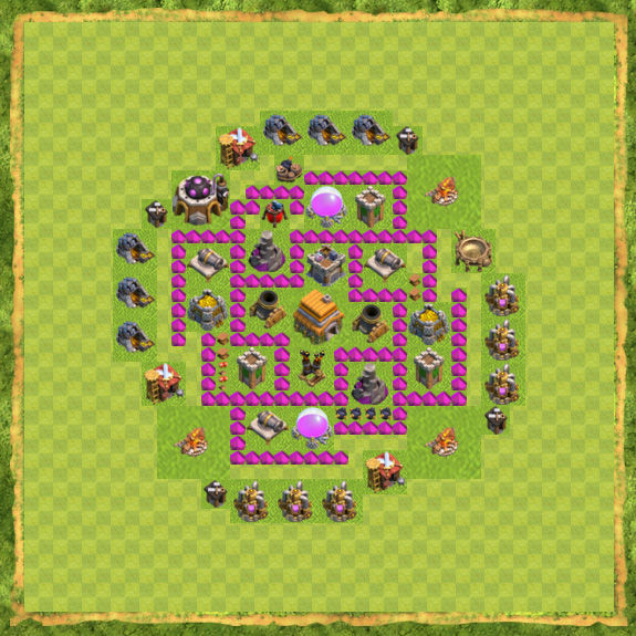 Base War Coc Th 6 14