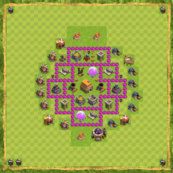 Base War Coc Th 6 21