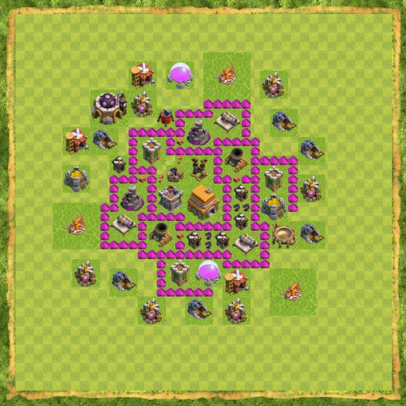 Base War Coc Th 6 27