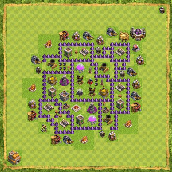 Base Farming Coc Th 7 10