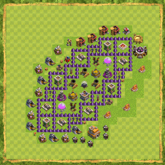 Base Farming Coc Th 7 12