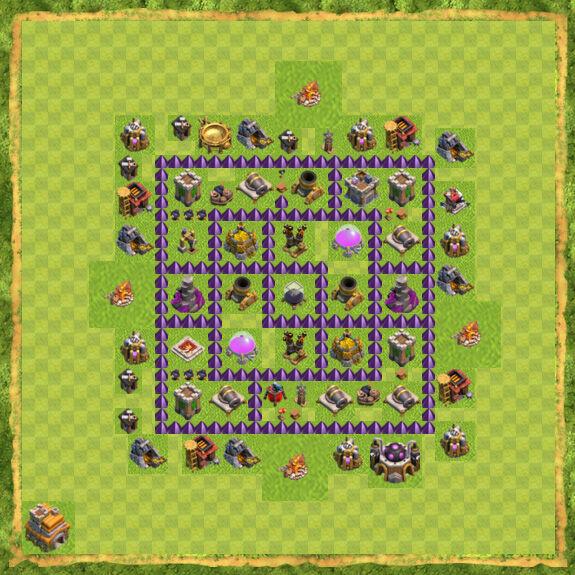 Base Farming Coc Th 7 13