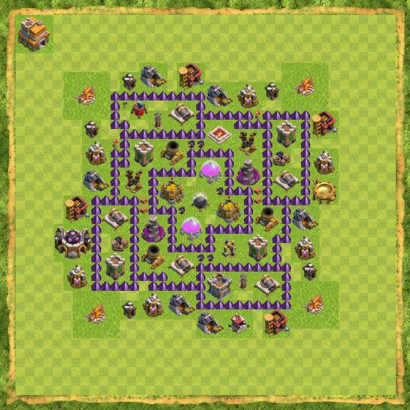Base Farming Coc Th 7 17