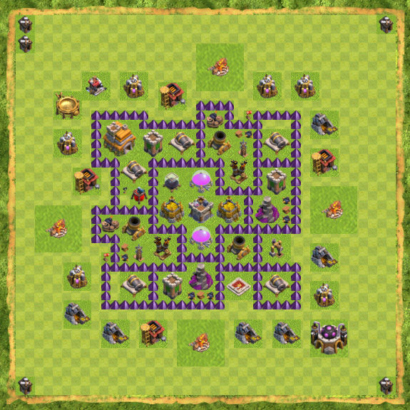 Base Farming Coc Th 7 21