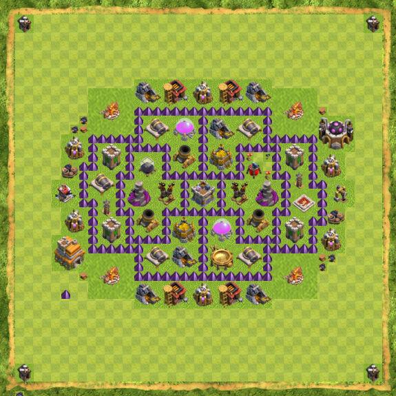 Base Farming Coc Th 7 32