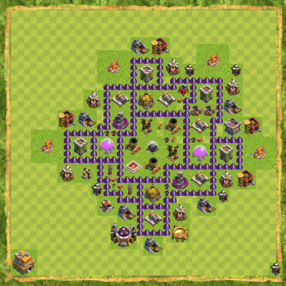Base Farming Coc Th 7 33