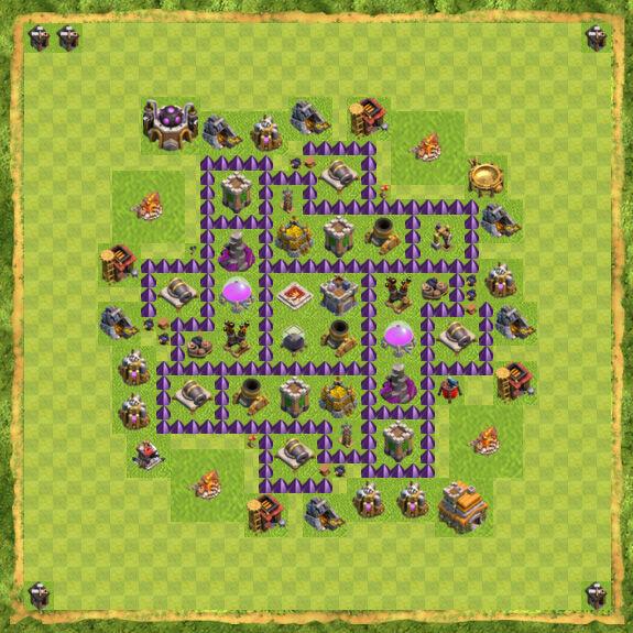Base Farming Coc Th 7 47