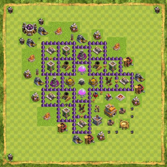Base Farming Coc Th 7 49