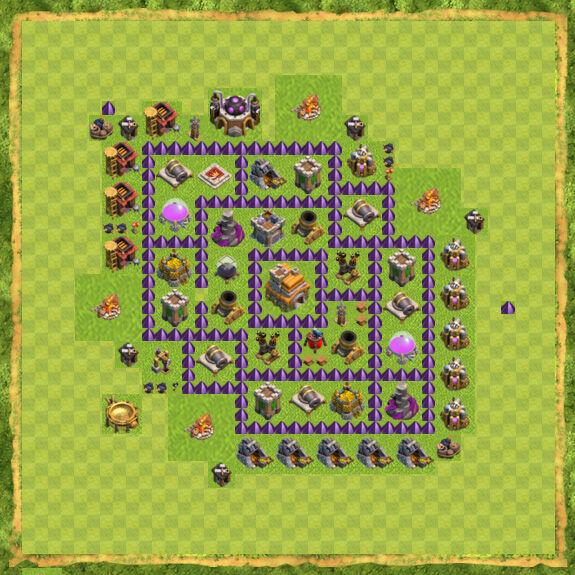 Base Farming Coc Th 7 8