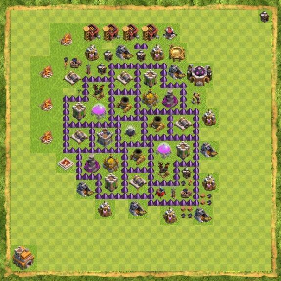 Base Farming Coc Th 7 9