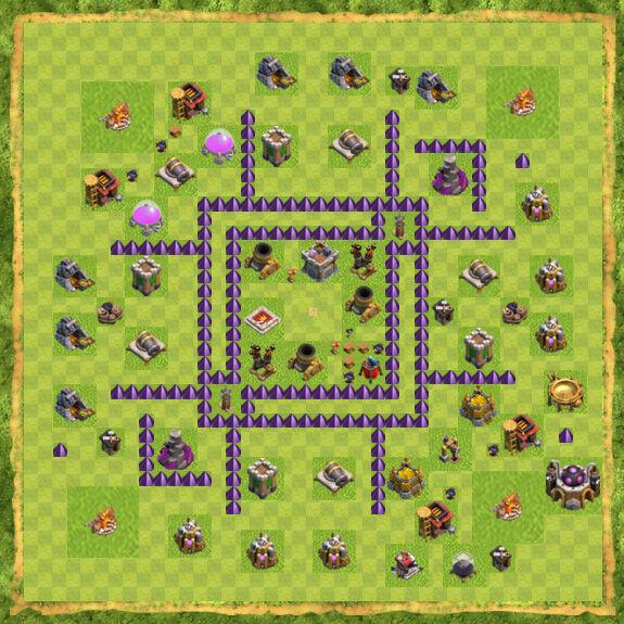 Base War Coc Th 7 14