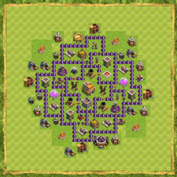карта для сос для 7 уровня ратуши взрослые, кукольные