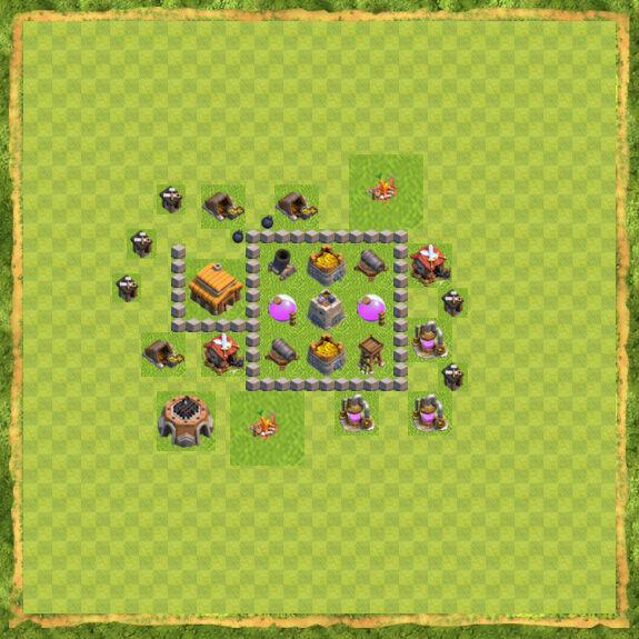 Base Farming Coc Th 3 18