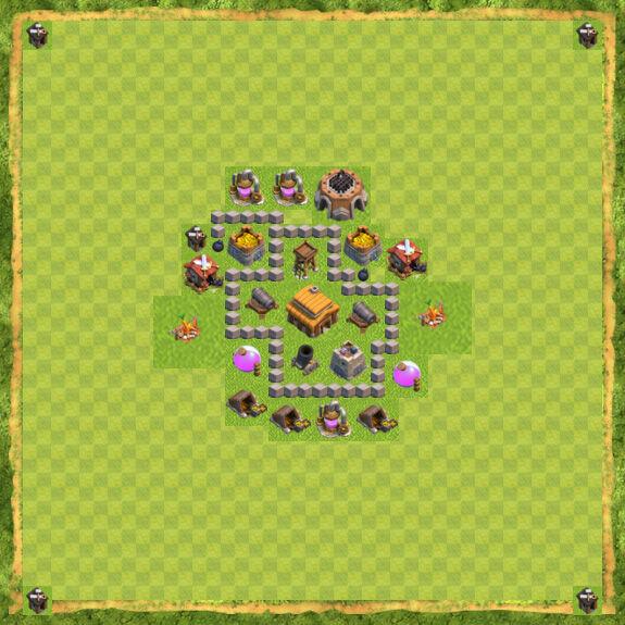 Kumpulan formasi base town hall 3 clan war clash of clans terbaik