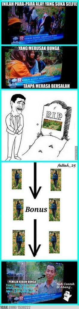 Meme Suka Suka Gue Dong Perusak Taman Bunga Amarillys 17