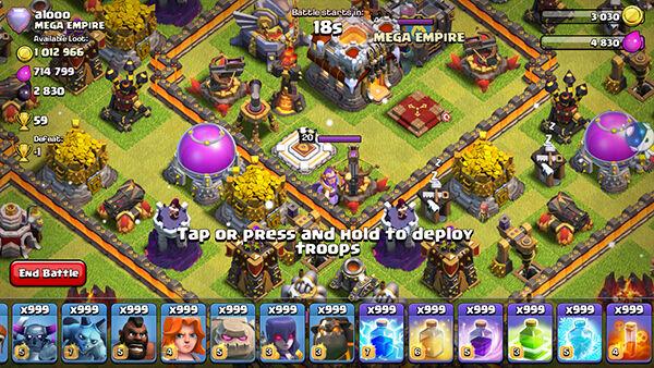 Cara menambah pasukan dan spell clash of clans hingga 999 gameku pasukan dan spell coc 999 9 stopboris Images