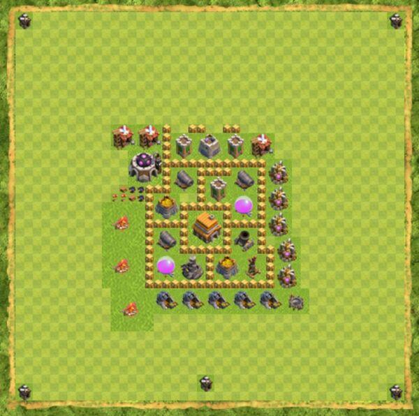 Base Defense Coc Th 5 Terbaru 3