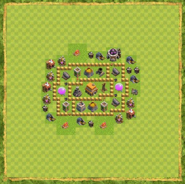Base Defense Coc Th 5 Terbaru 7