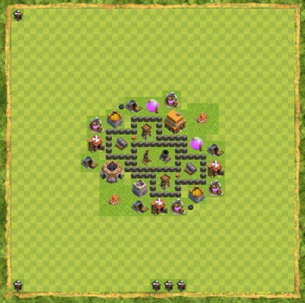 Base War Coc Th 4 Terbaru 2