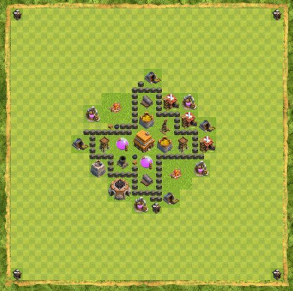 Base War Coc Th 4 Terbaru 3