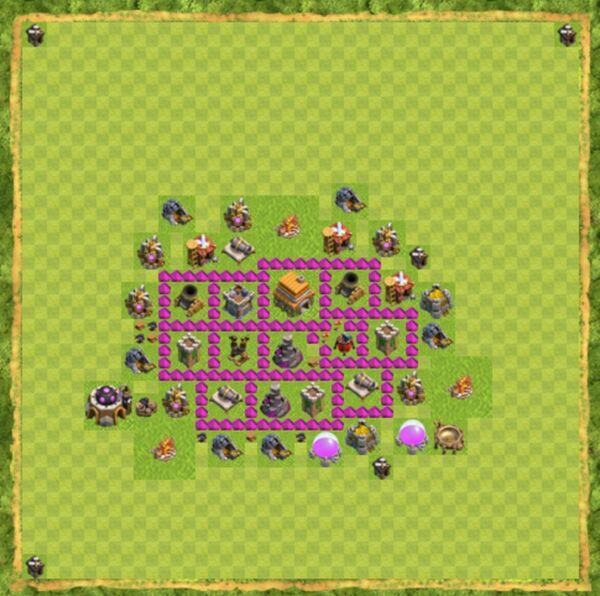 Base War Coc Th 6 Terbaru 6