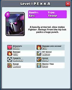 Kombinasi Deck Pekka Clash Royale