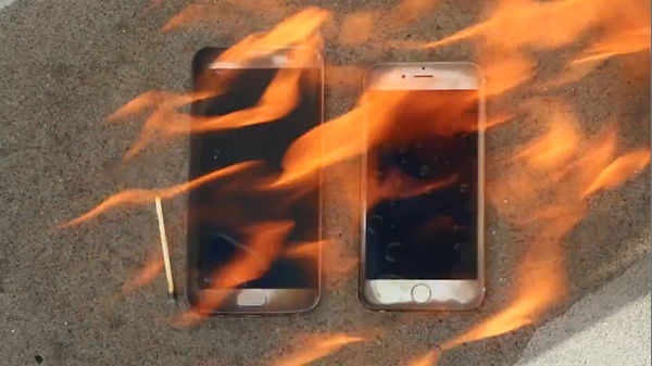 Uji Bakar Iphone 6s Vs Galaxy S7 Edge 1