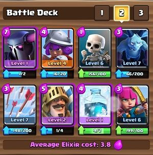 Kombinasi battle deck pekka prince terkuat di clash for Deck pekka arene 6