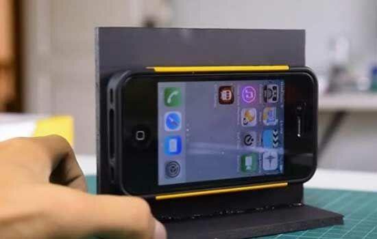 Proyektor Smartphone Dari Kardus Sepatu 11