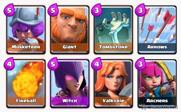 Battle Deck Witch Clash Royale 13