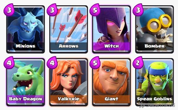 Battle Deck Witch Clash Royale 15