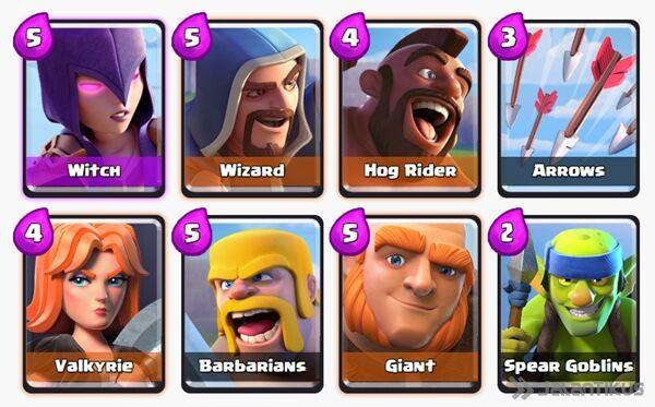 Battle Deck Witch Clash Royale 16