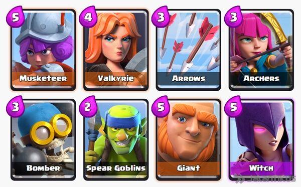 Battle Deck Witch Clash Royale 6