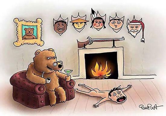 Ilustrasi Perlakuan Hewan ke Manusia (34)