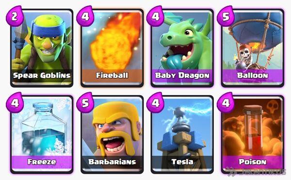 Battle Deck Baby Dragon Clash Royale 17