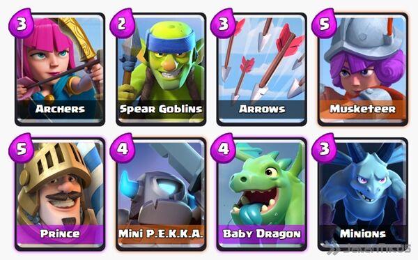 Battle Deck Baby Dragon Clash Royale 18