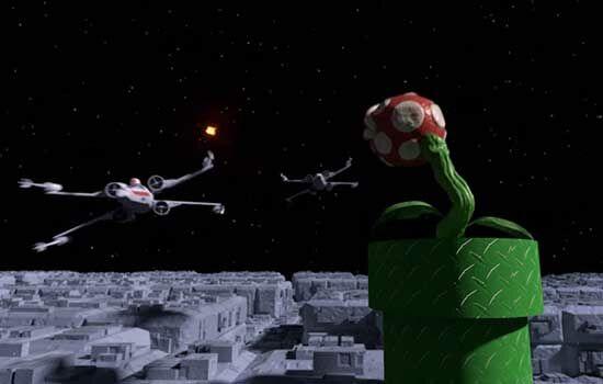 Super Mario Bros Star Wars 3
