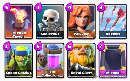 Battle Deck Royal Giant Clash Royale 9