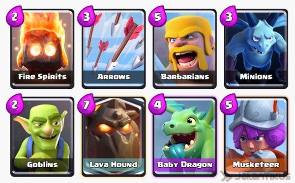 Battle Deck Lava Hound Clash Royale 3