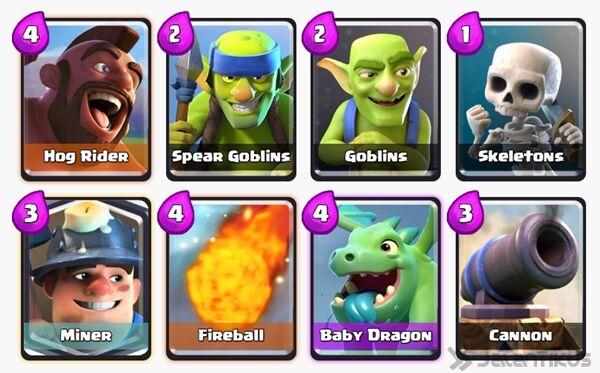 Battle Deck Miner Clash Royale 14
