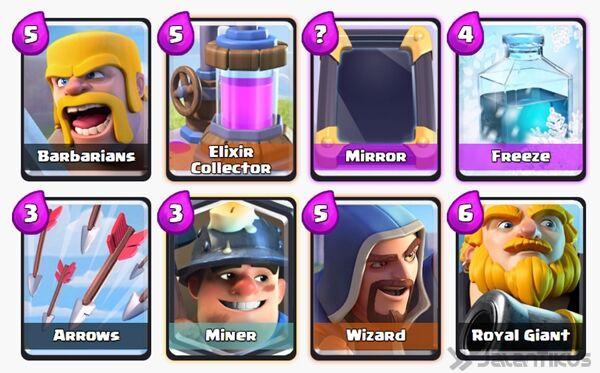 Battle Deck Miner Clash Royale 15