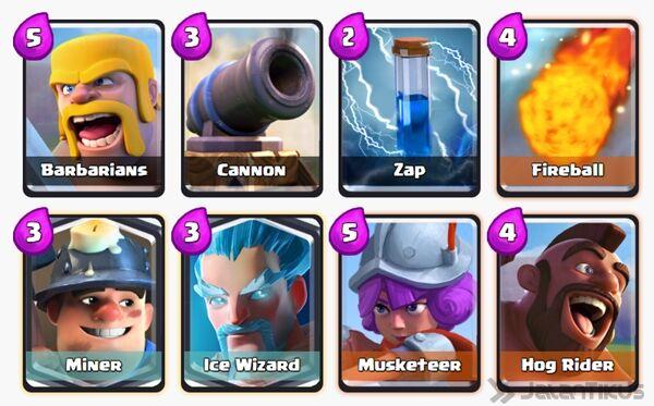 Battle Deck Miner Clash Royale 20
