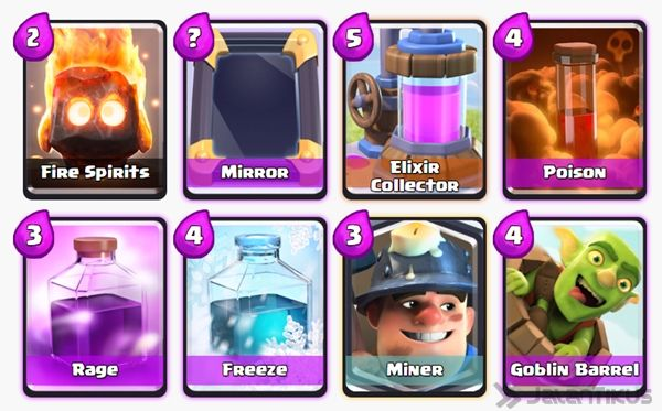 Battle Deck Miner Clash Royale 3