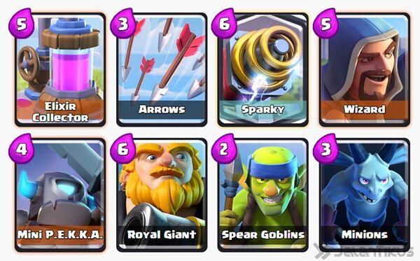 Battle Deck Sparky Clash Royale 5