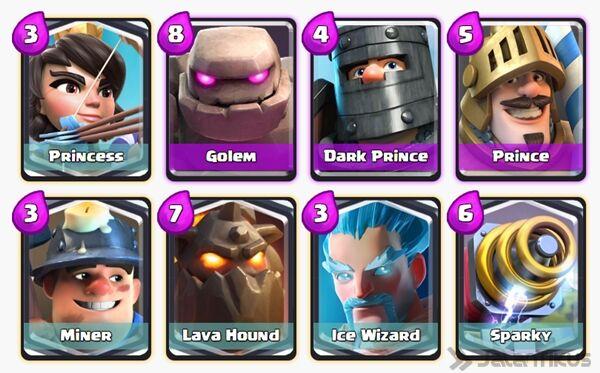 Battle Deck Dark Prince Clash Royale 1